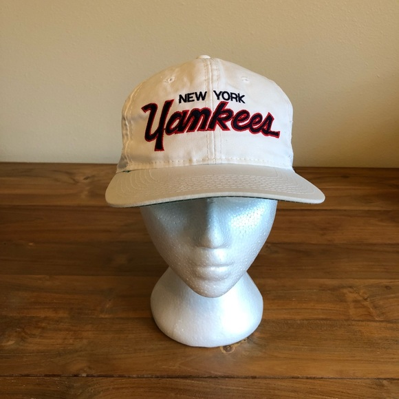 buy popular f75eb 26942 ... New York Yankees Script Snapback. M 5bbc4bb42e1478c9a1e74ff0